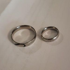 Set of wedding rings silver/pewter